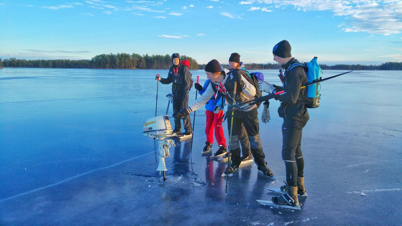 Ice Skating FunnyMoments  Outboard Motor Stuck In The Ice Adventure Club Frozen Lake Lgg4photography