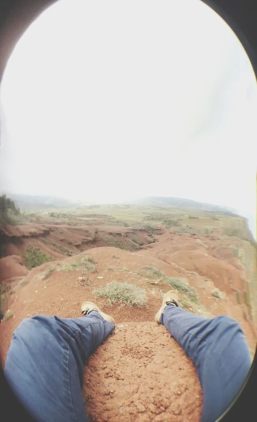 Personal Perspective Relaxation One Man Only Leisure Activity Men Adults Only One Person Tranquility Adult Nature Sky Human Body Part Landscape Day Adventure People Only Men Outdoors Beauty In Nature