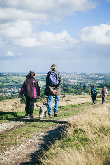 Activity Country Countryside Day Out Dog Walking England Exercise Fitness Fresh Air Healthy Hiking Hills Landscape Moors Nature Otley Outdoors Path People Rambling Sky Trail Walkers Walking Yorkshire