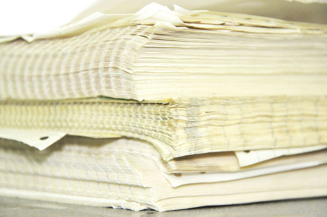 Close Up Stack Of Papers, Books And File Bind Bureaucracy File Folder Form Messy Old Paper Paperwork Pile Proposition Report Stack Yellow