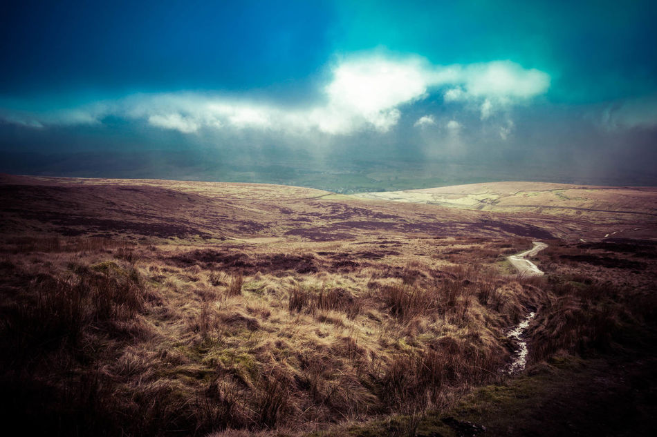 Atmospheric Mood Awe Beauty In Nature Cloud - Sky Day Dramatic Sky Environmental Conservation Extreme Terrain Landscape Mountain Natural Phenomenon Nature No People Outdoors Pen-y-ghent Rural Scene Scenics Sky Storm Cloud Sunset Three Peaks Tranquil Scene Tranquility Yorkshire Dales Yorkshire Three Peaks
