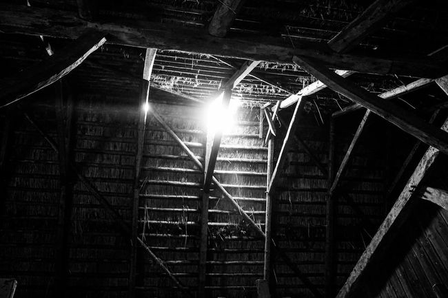 Old House Roof Structure Attic Historical Building Black & White Blackandwhite Black And White