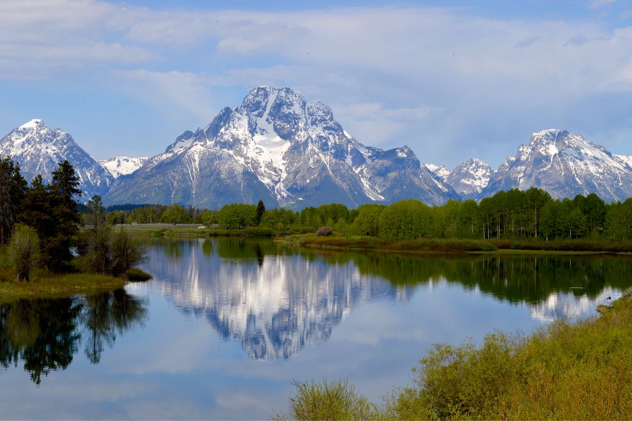 Oxbow Bend Turnout Grandtetonnationalpark Grandtetons Mountain View Mountain_collection Mountainlake Reflection_collection Mountains