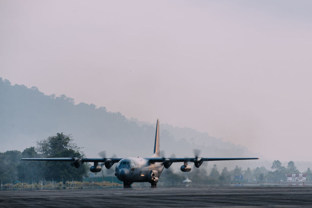 Air Vehicle Airplane Airport At The Airport C130 Flying Journey Military Military Aircraft Mode Of Transport Propeller Transportation Travel Turboprop