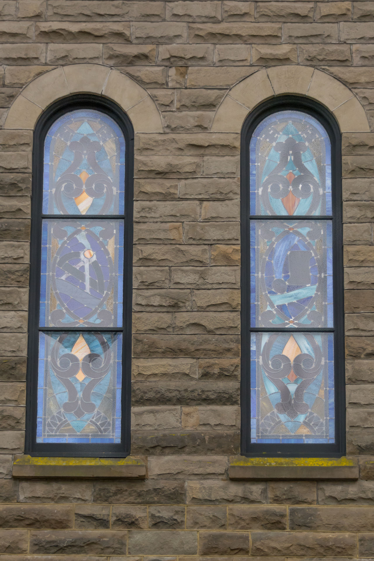 Architecture Brick Wall Building Exterior Built Structure Church Window Close-up Day No People Outdoors Stained Glass Window
