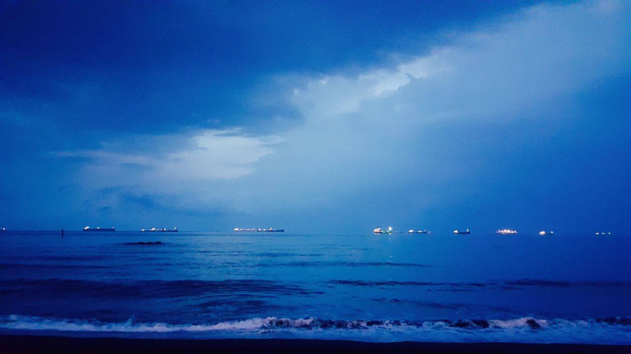 Sea Beach Taiwan Qijinisland extremely beautiful view 👍🏻👍🏻 Boats Blue Sky
