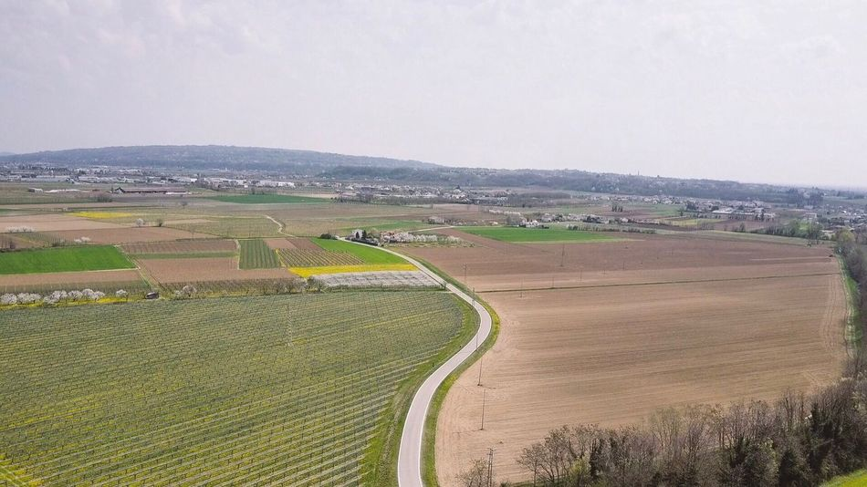 Landscape Agriculture Rural Scene Beauty In Nature Nature Field Tranquil Scene Scenics Dronephotography Drone Photography Tranquility High Angle View Mountain Sky No People Outdoors Day Road Aerial View