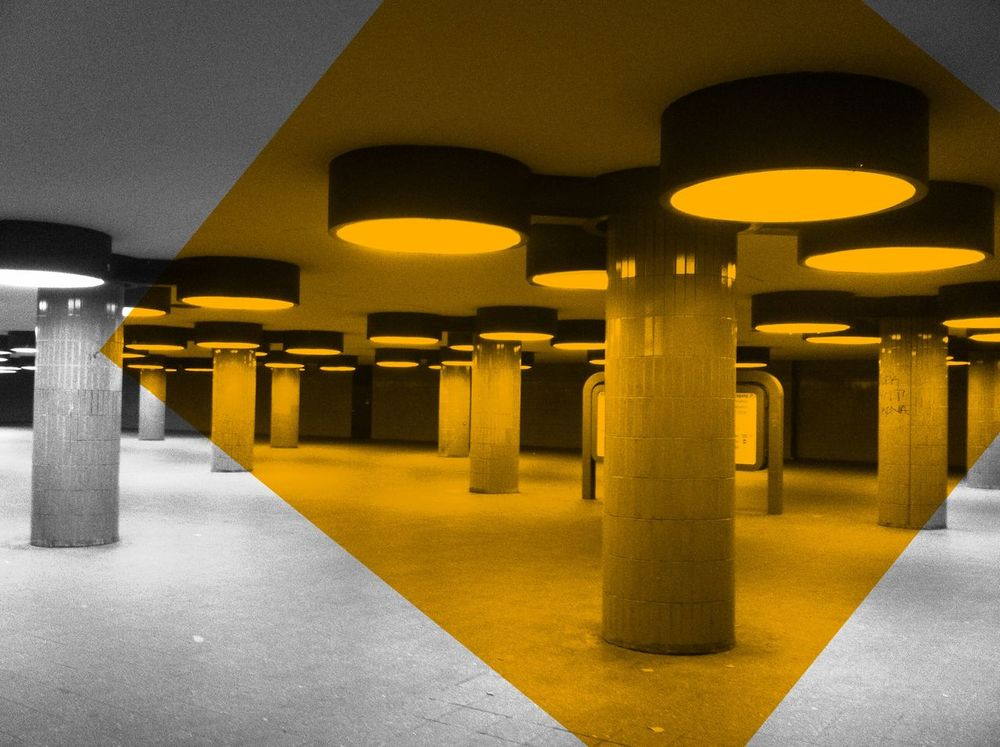 Architectural Column Architecture Berlin Berlin Photography Berlin Subway Ceiling Column Electric Light In A Row No People Rail Transportation Railroad Station Repetition