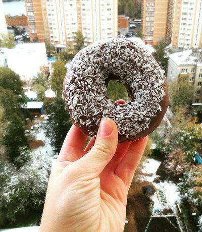 Первый снег❄ Walking Around Relaxing Like4like Followforfollow Taking Photos Enjoying Life Donuts KrispyKreme Love