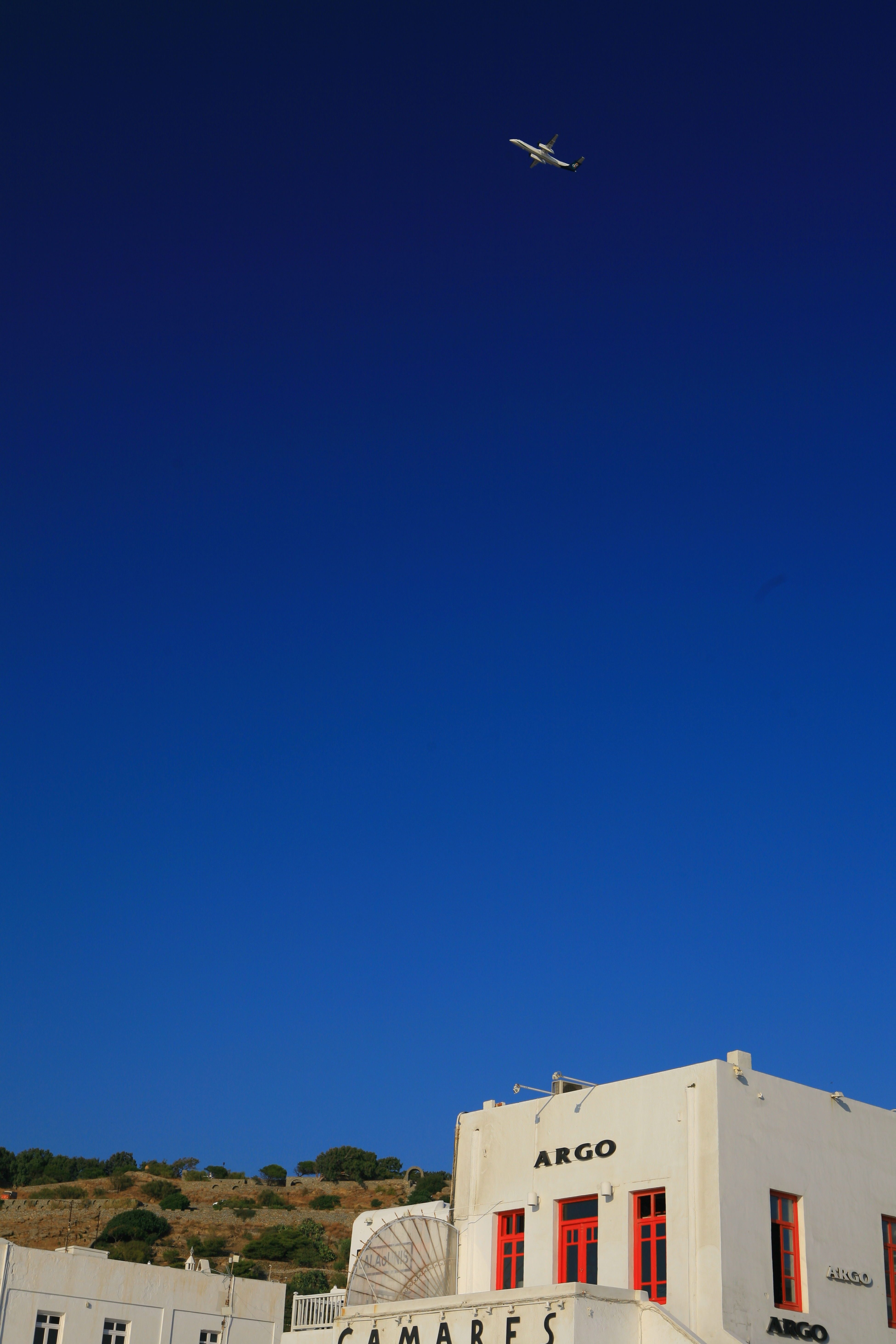 Blue sky in Mykonos, Greece Sky Traveling Landscape Streetphotography