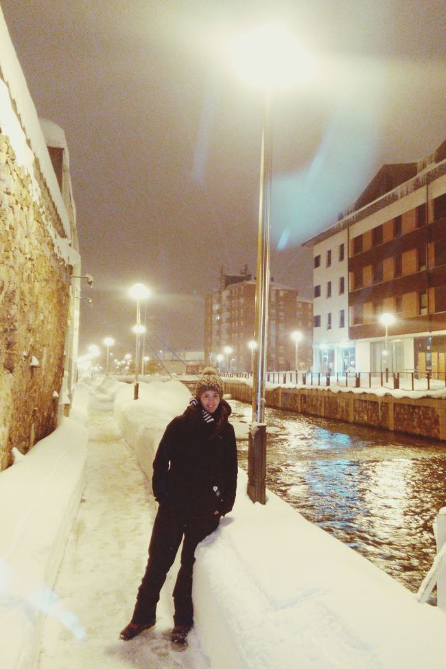 Walking On Snow That's Me Cold Winter ❄⛄ January2015 Taking Photos Snow ❄ Wintertime Cold Days In the river side..