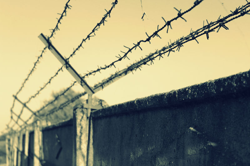 Barbed Wire Chainlink Fence Criminals Fence Freedom Human Rights Jail Prison Protection Security