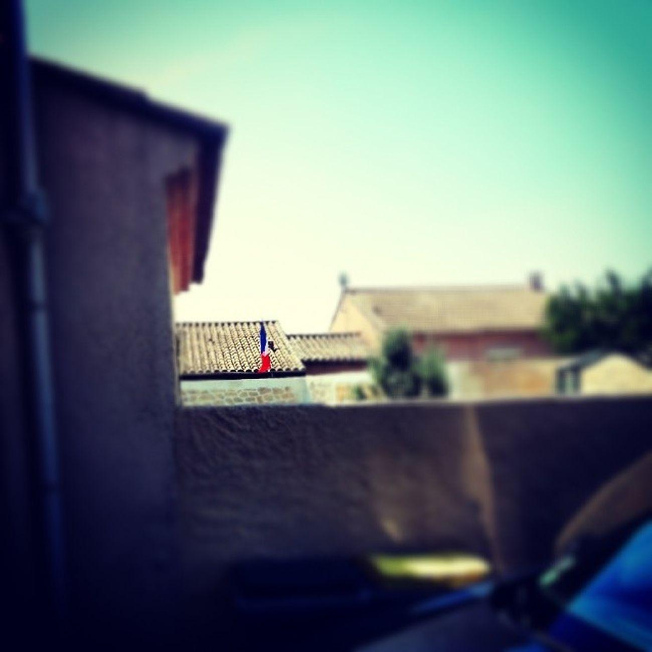 Mes voisins et le drapeau de la France :p. CDM France Bleu Blanc rouge foot
