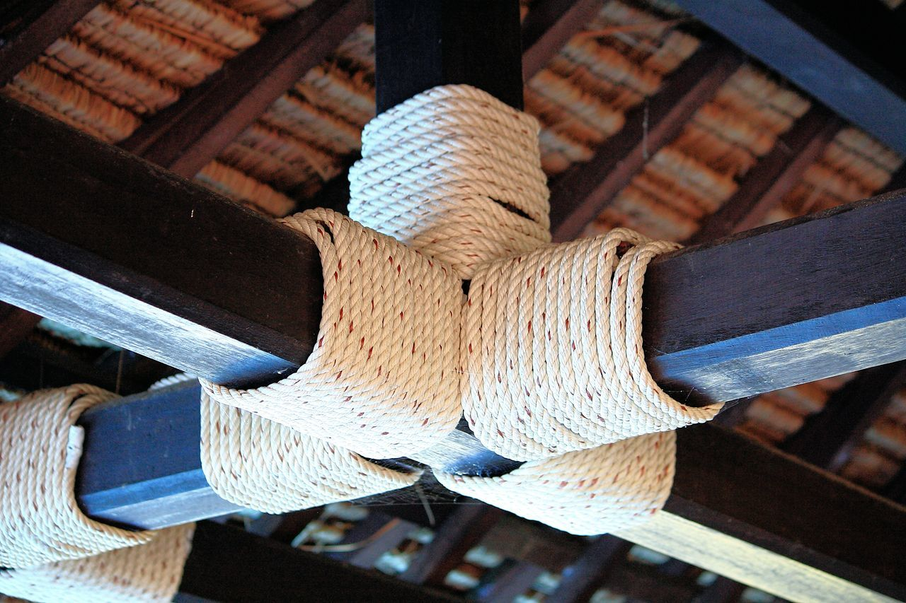 Cross beams Sisal Rope Bondage Chandler Chandlery Cross Beams Crossbeams Detail Kinbaku Maritime Maritime Life Maritime Photography Nautical Nautical Decor Nautical Rope Nautical Theme Nautical Vessel Naval Pattern Rope Ropework Sailors Knots Seafaring Shibari  Sisal Tied Up