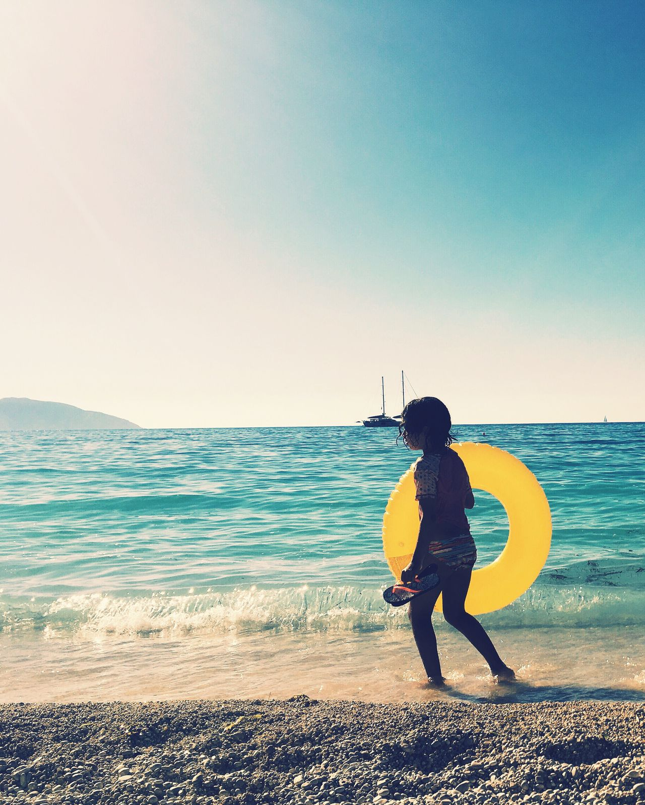 Summer in kefalonia Myrtosbeach Summer Greece Withmylove Onthebeach Water Sun Blue Beachphotography August Sea And Sky Photography Withmyfriends Yellow Circle