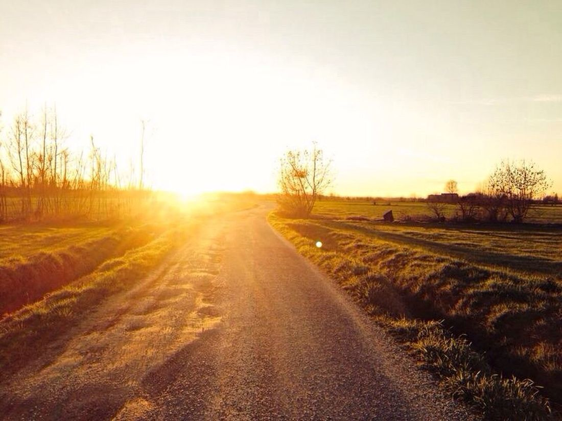 Nofilter Sunset Sun On The Road Walking Around
