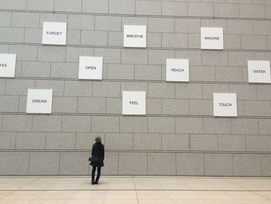 Yokoono Exhibition JustMe Words The Purist (no Edit, No Filter)