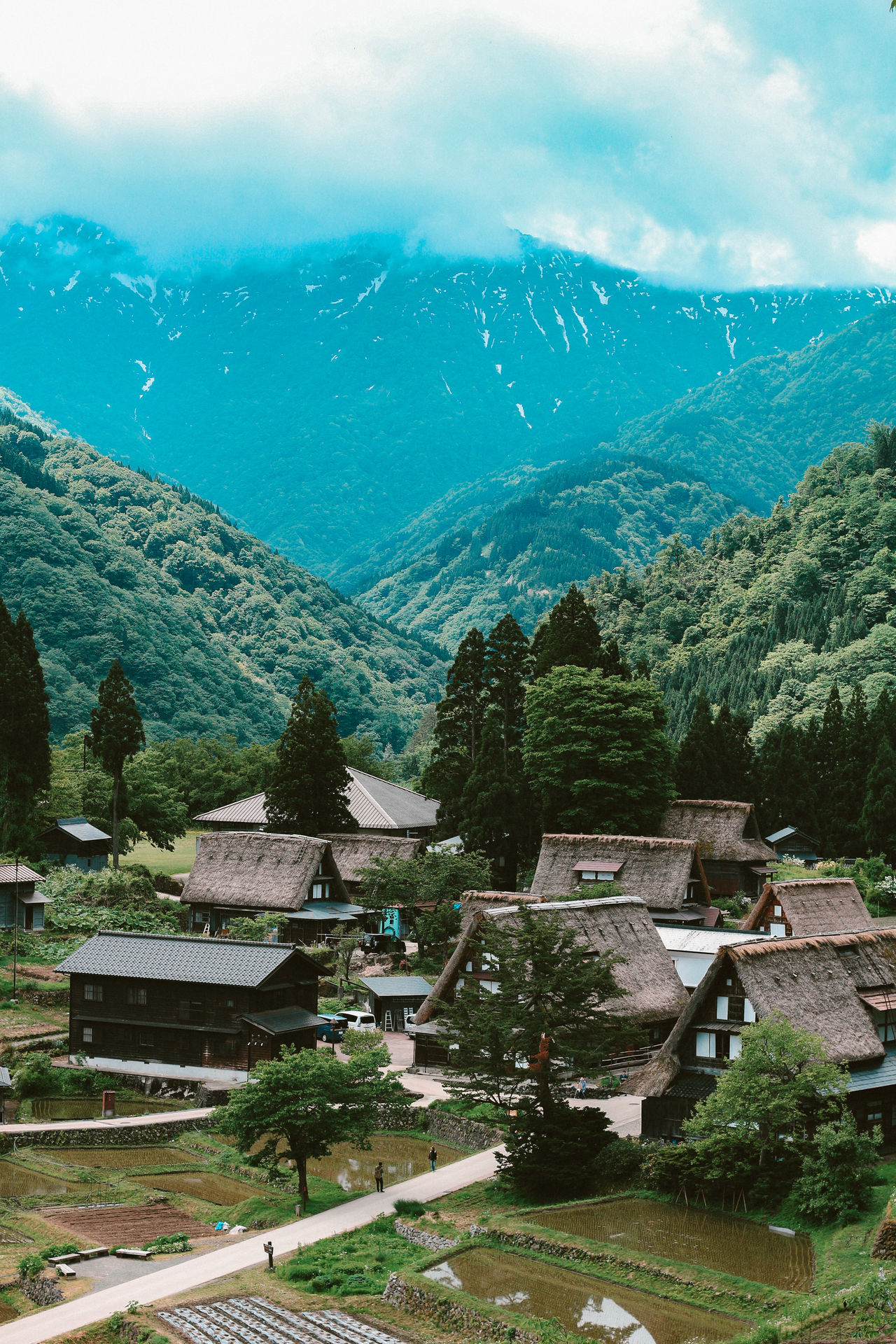 The traditional houses of Gokayama Village, at Toyama Prefecture Architecture Building Exterior Canon Day Japan Japan Photography Japanese Culture Japanese Style Nature Nature No People Outdoors Scene Scenery Sky Traditional Travel Travel Destinations