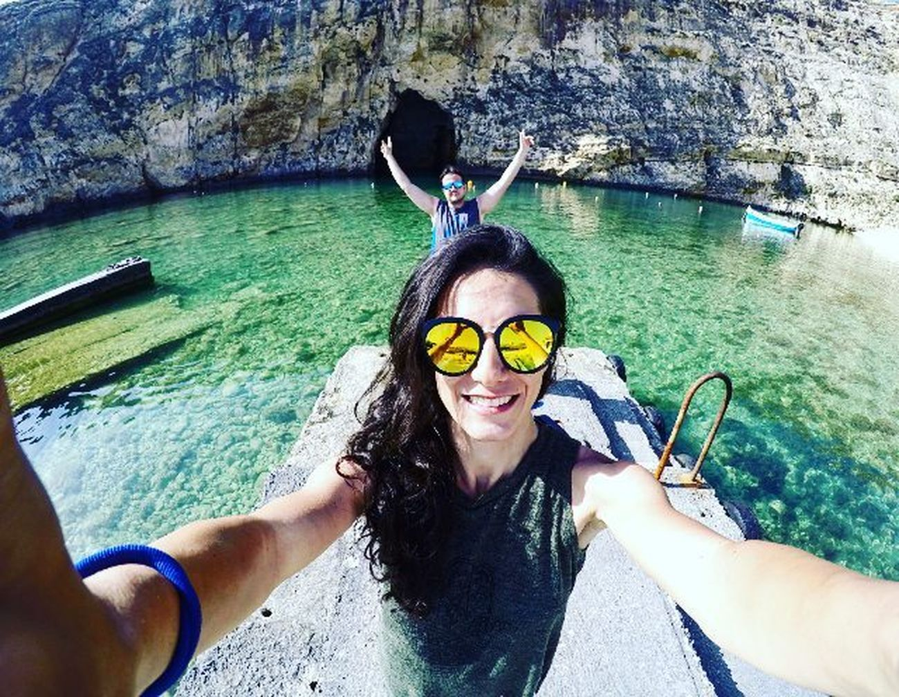 Take a trip to behind the window ⛵ Diclemre Diclemreontheway Malta Dicle30oldu Azurewindow Gameofthrones Smile Happiness Holiday Best  Askileyap Travel Vscocam Vscotravel Goprooftheday Bestoftheday Adventures Travelphotography