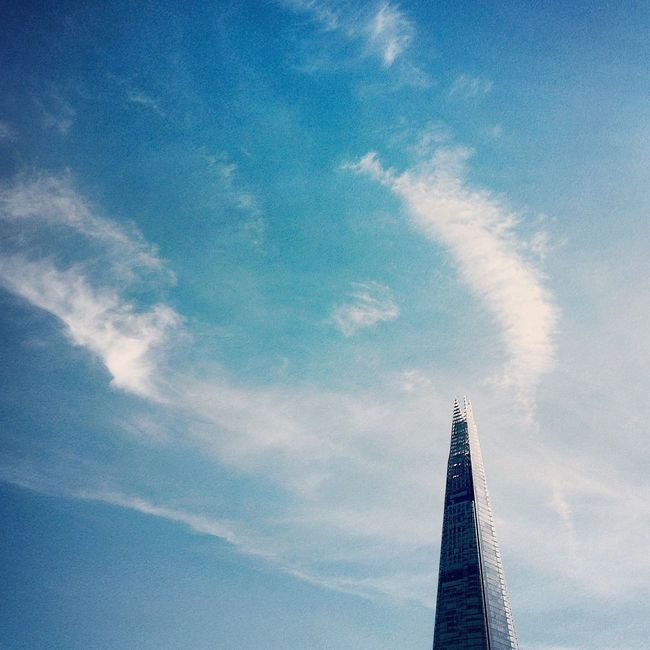 Sky Cloud - Sky Architecture Built Structure No People Low Angle View Day Outdoors Nature Shard Shard London Bridge London Building Exterior Sky And Clouds Skyscraper IPhoneography Beautiful Uk