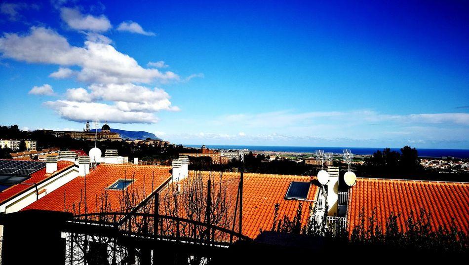 Sky Cloud - Sky Outdoors No People Loreto Marche Monte Conero Sunlight Tranquility