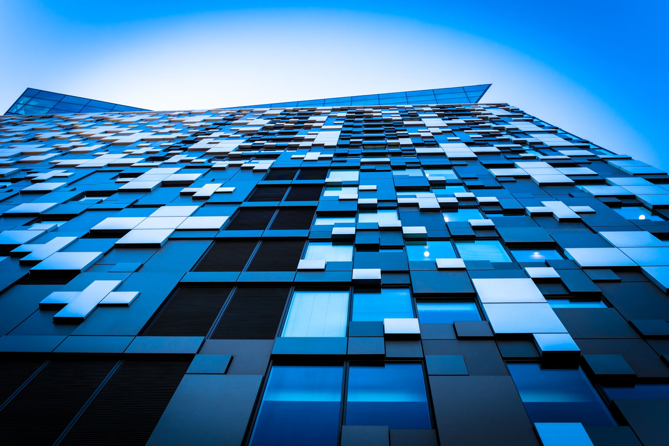 The Cube. Abstract Photography Architectural Feature Architecture Beautiful Buildings Birmingham City Centre Blue Building The Architect - 20I6 EyeEm Awards Built Structure City City Life Cube Day Low Angle View Modern Modern Architecture No People Office Building Outdoors Repetition Sky Skyscraper Tall - High The Architect - 2016 EyeEm Awards The Street Photographer - 2016 EyeEm Awards