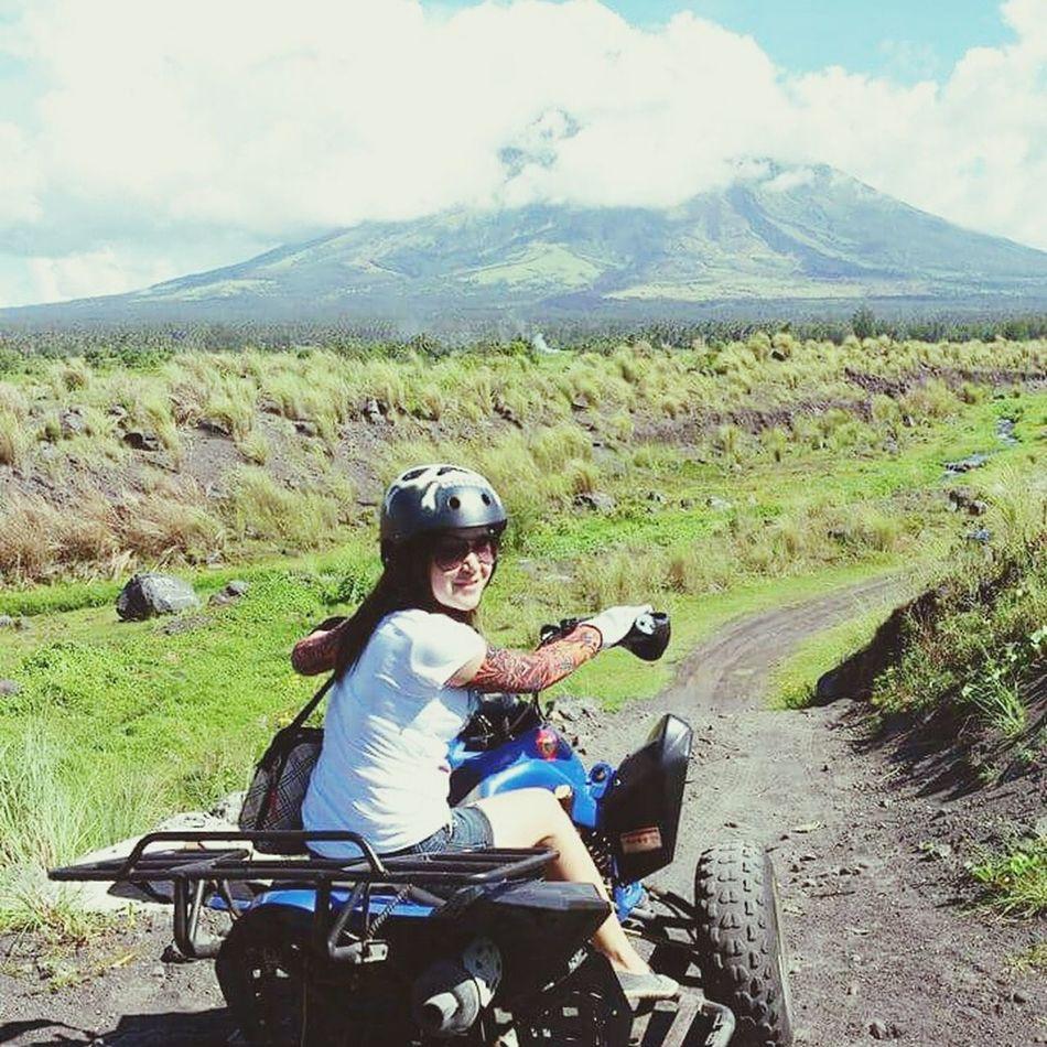 All terrain vehicle. Enjoying the view and the ride. Cool 😃🙌 Traveling Adventure EyeEm Best Shots Allterrain Mayonvolcano Albay