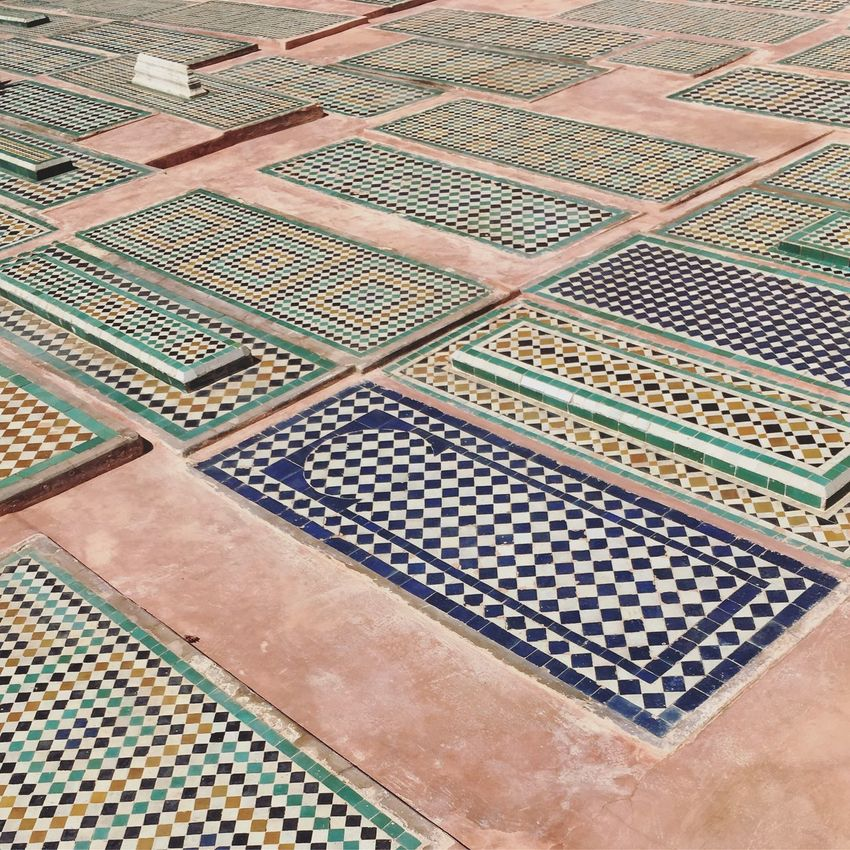 Saadian tombs in Marrakesh Morocco Marrakech Tiles Saadian Tombs Oriental Ornate