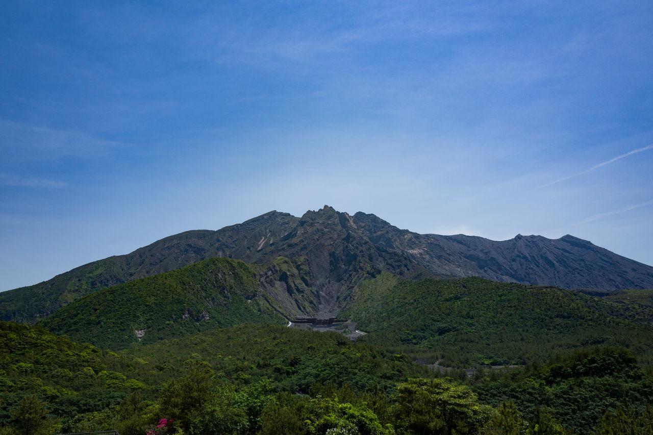 Photos from Sakurajima, Japan Beauty In Nature Blue Day Grass Japan KYUSHU Landscape Mountain Mountain Range Nature No People Outdoors Remote Scenics Sky Tranquil Scene Tranquility Tree Volcano