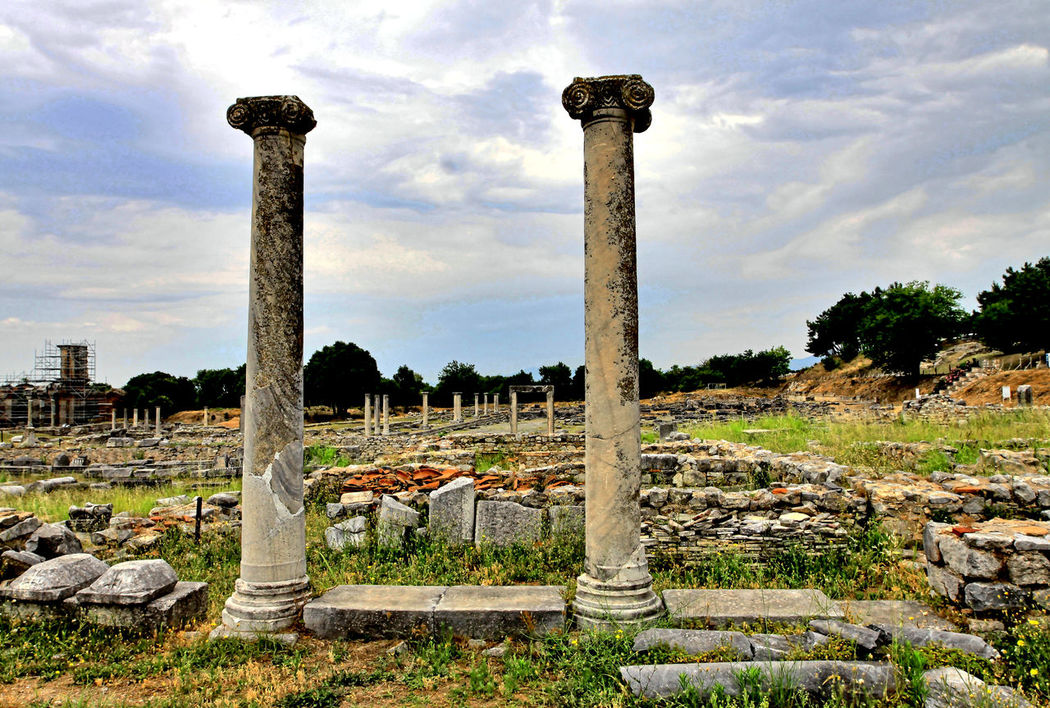Visiting the Philippi archaeological site, Northern Greece Ancient Ancient Civilization Archaeology Architecture Column Day Excavation History No People Outdoors Past Pillars Ruins Stone 43 Golden Moments Fine Art Photography UNESCO World Heritage Site Showcase July Two Is Better Than One