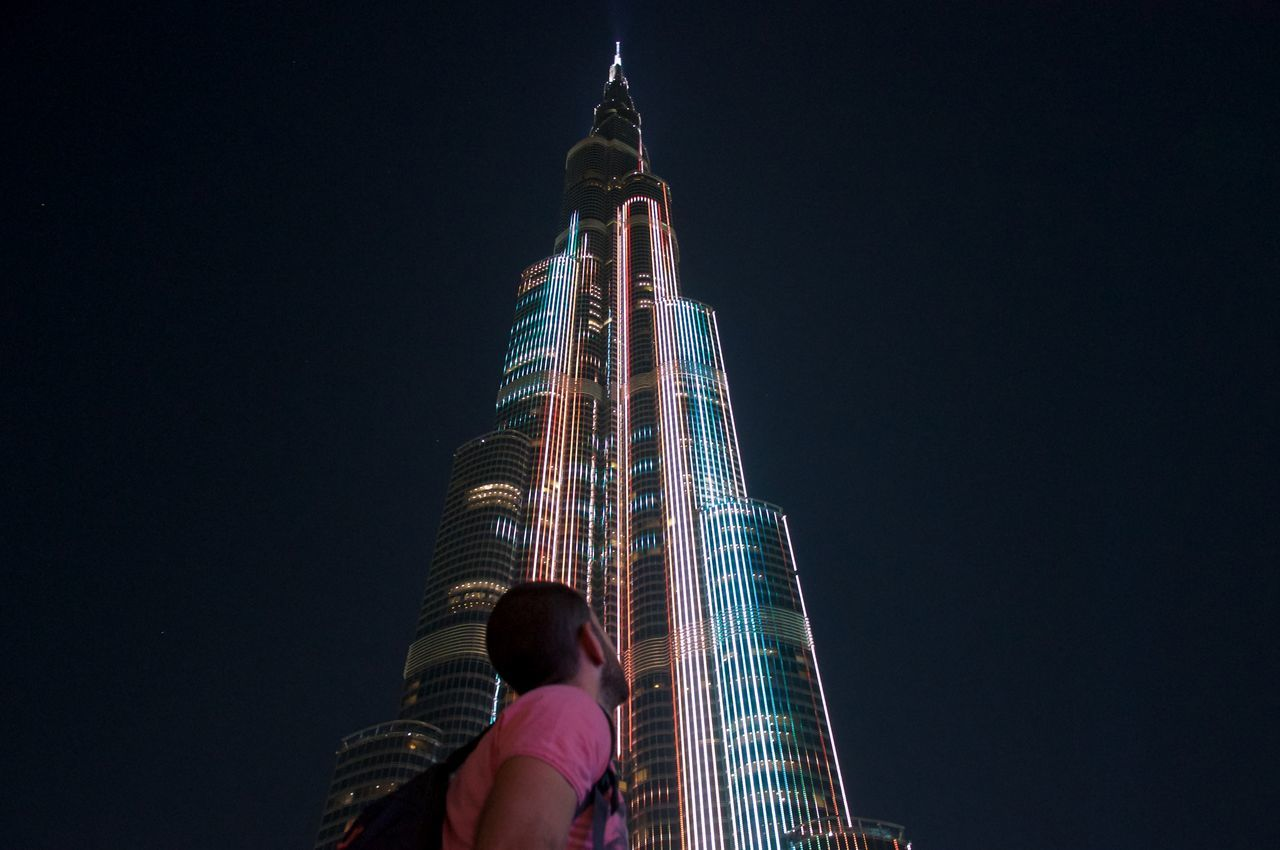 Burjkalifa By Night Dubai Different Perspective People Eye4photography  Hanging Out Taking Photos EyeEm Best Shots Showcase March EyeEm Best Edits EyeEmBestPics Travel Traveling City Lights Restless Vagabonds