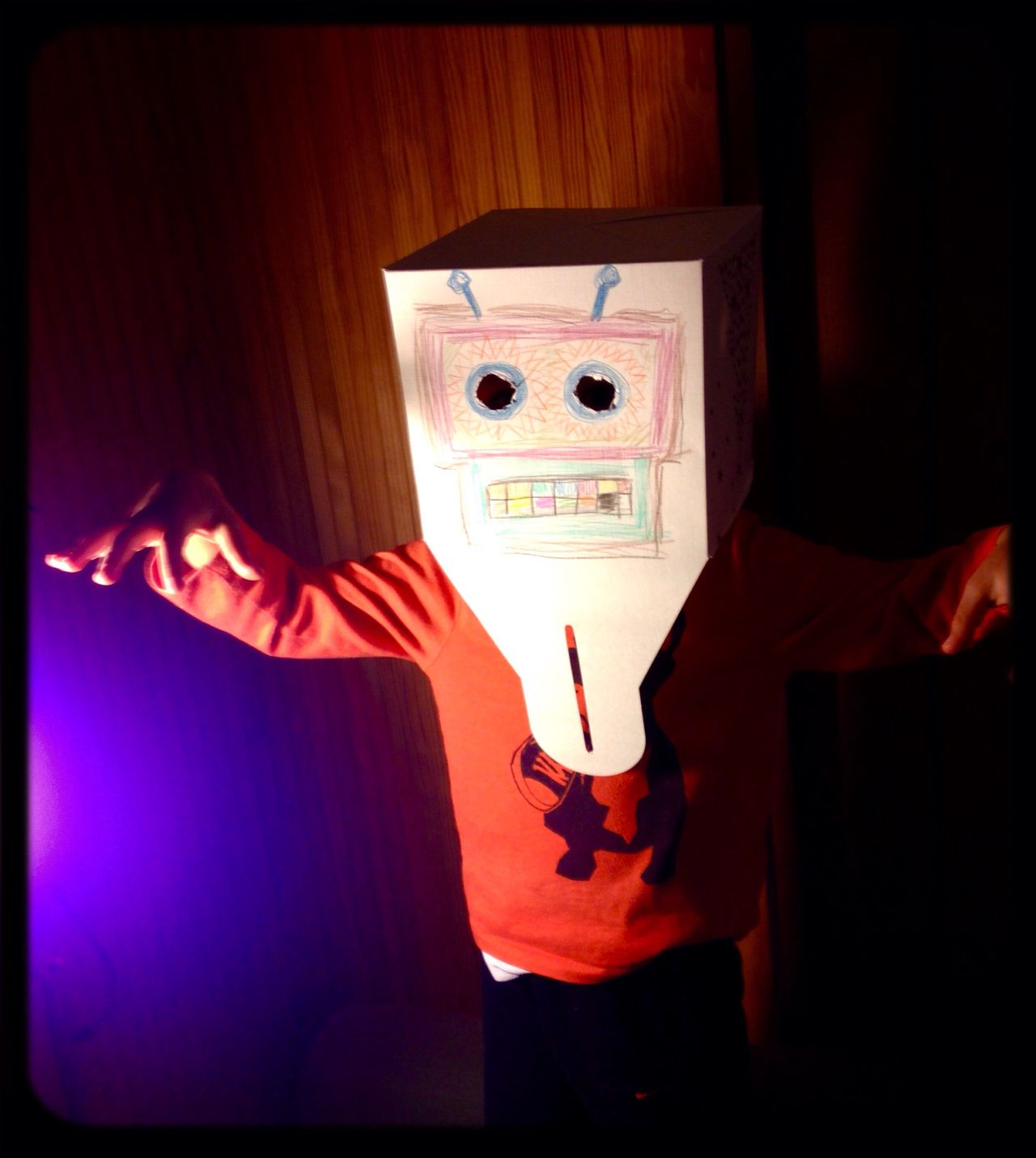 """BEHOLD! The Mean Box from Outer Space / """"I'm here to Destroy your Planet ! """""""