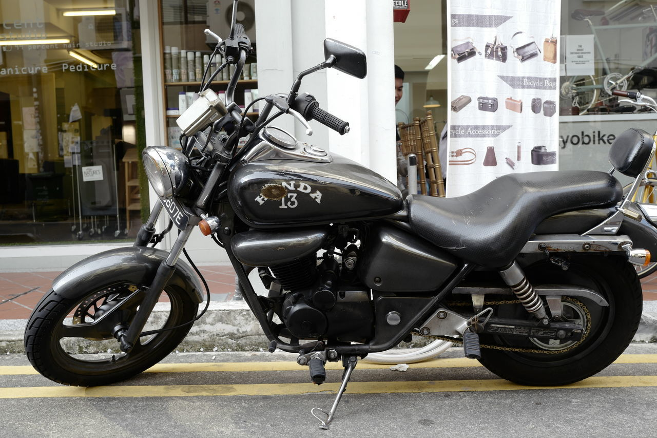 transportation, land vehicle, mode of transport, motorcycle, stationary, no people, day, outdoors