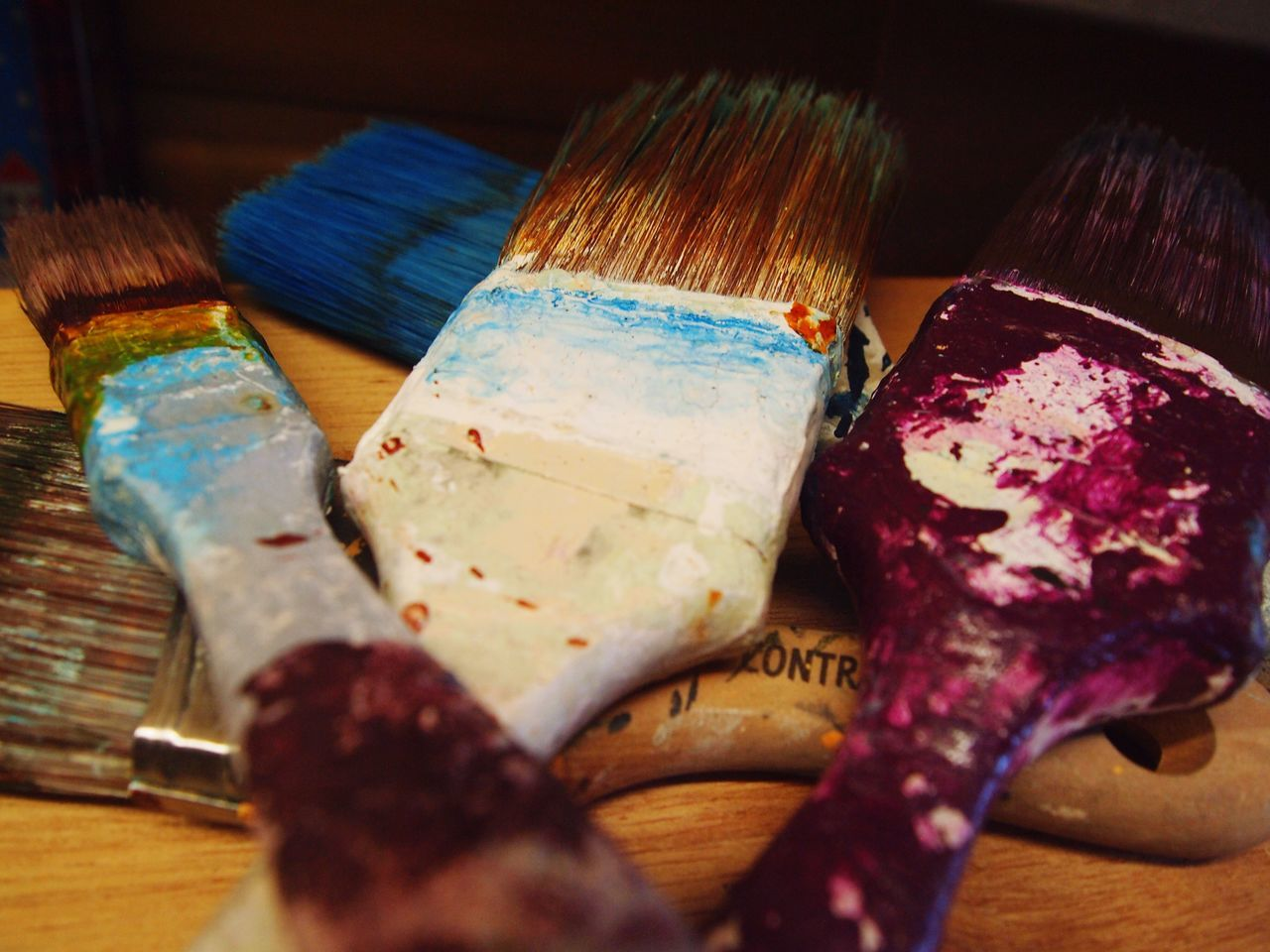 Paintbrush Indoors  Oil Paint Paint Multi Colored Palette Close-up No People Day