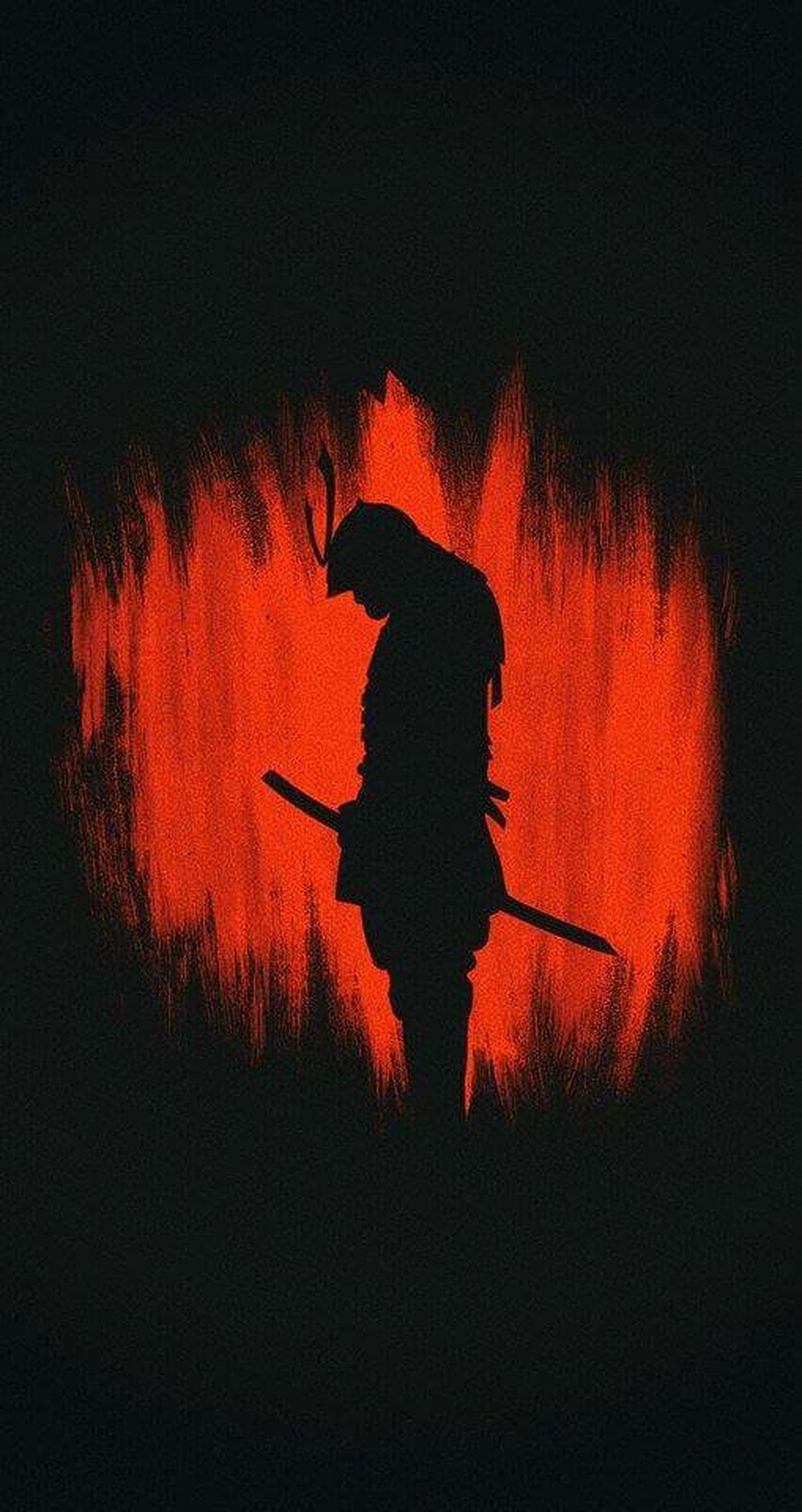 heat - temperature, red, night, silhouette, danger, outdoors, one person, people