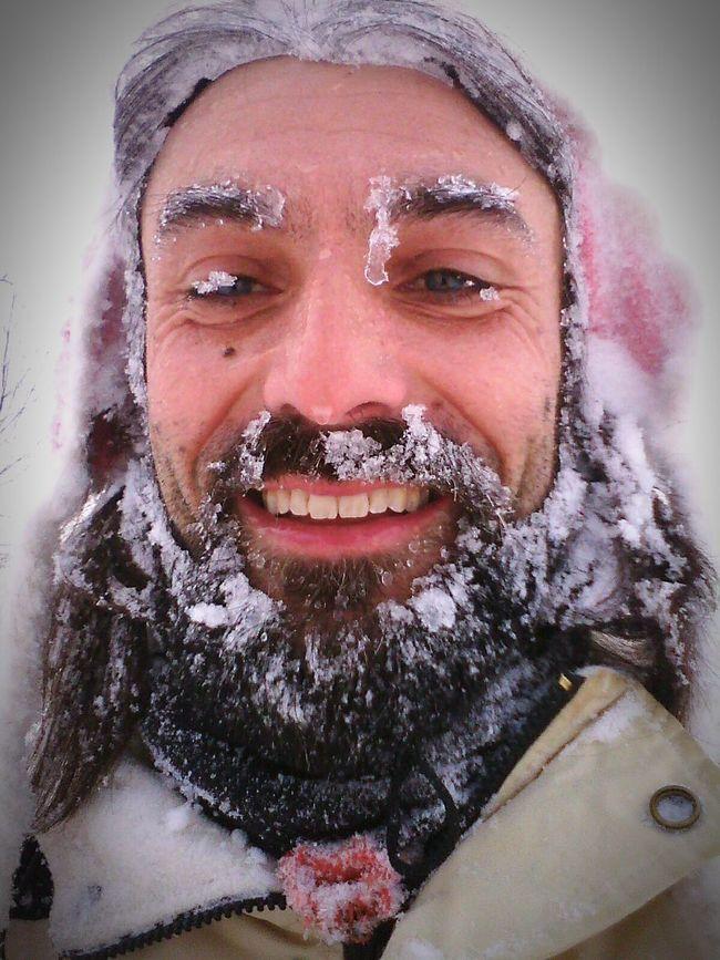Ice Age Portrait Snow Winter Funny Pics Snowman Face Snow In My Hair Selfie ✌ Winterfun Cold Days ❄ Beard Bearded Beardedlifestyle Beardedlife