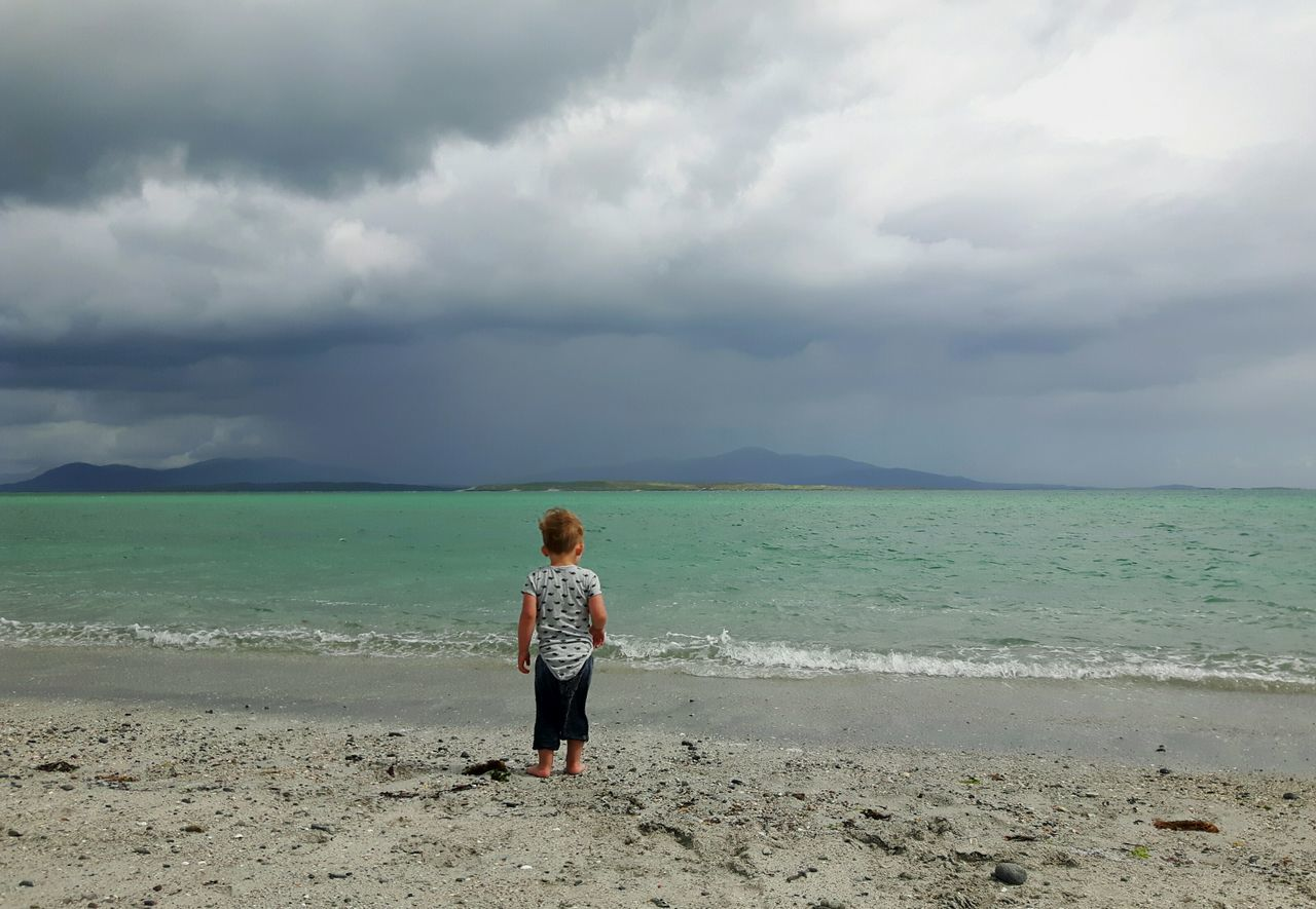 BYOPaper! Uist Rear View Nature People Berneray Nortuist Hebrides Outerhebrides Scotland Scottish Beaches Scottish Beach Toddler  Toddler Boy Childhood The Portraitist - 2017 EyeEm Awards Water Vacations Day Full Length Outdoors Human Body Part Boys Beauty In Nature The Great Outdoors - 2017 EyeEm Awards Toddlersofeyem One Boy Only Live For The Story EyeEmNewHere