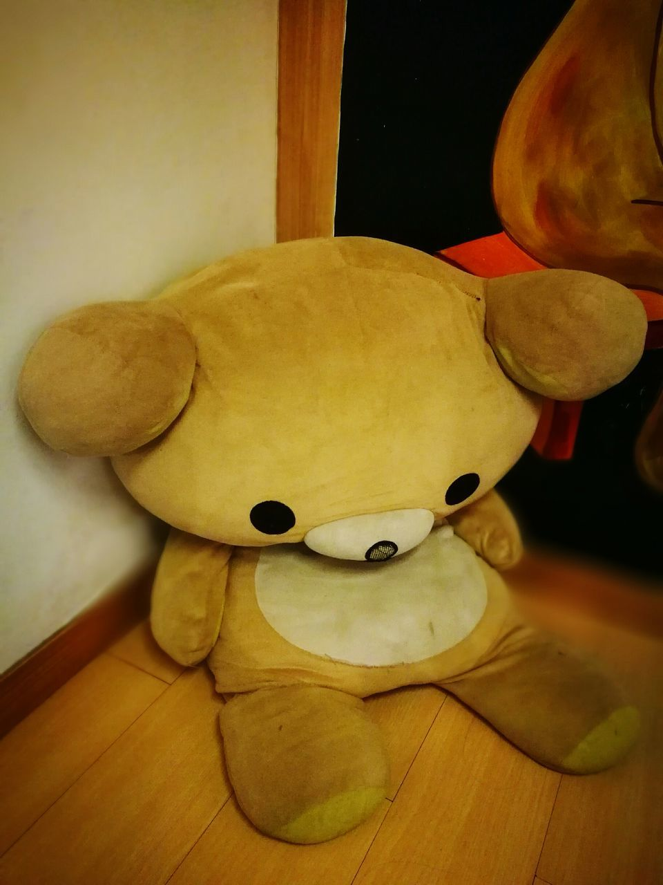 indoors, animal representation, no people, stuffed toy, table, home interior, close-up, wood - material, night, teddy bear