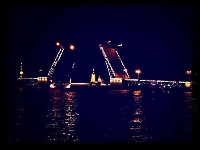 Питер Дворцовый мост Ночь Summer