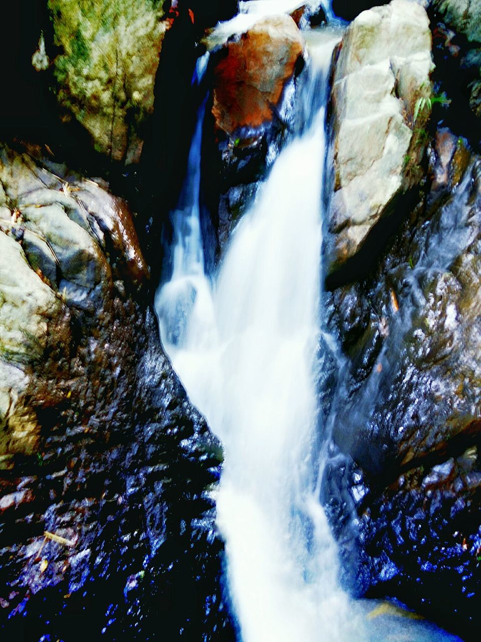 waterfall, motion, water, flowing water, long exposure, nature, river, blurred motion, beauty in nature, rock - object, rapid, outdoors, no people, scenics, day, tranquil scene, tranquility, purity, power in nature, tree