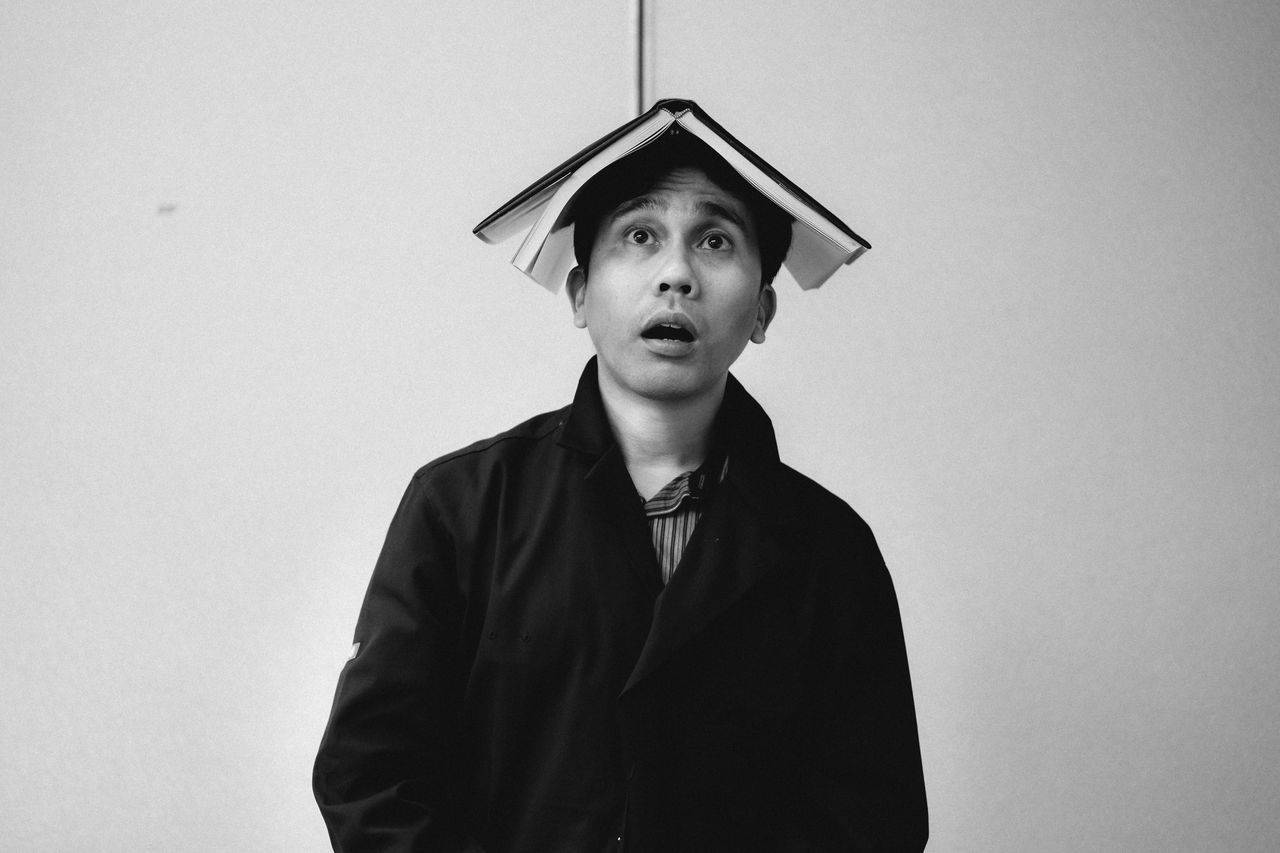 In the book Day Front View Looking At Camera One Person People Portrait Real People Standing Studio Shot White Background Young Adult Young Men Break The Mold Break The Mold The Portraitist - 2017 EyeEm Awards EyeEmNewHere