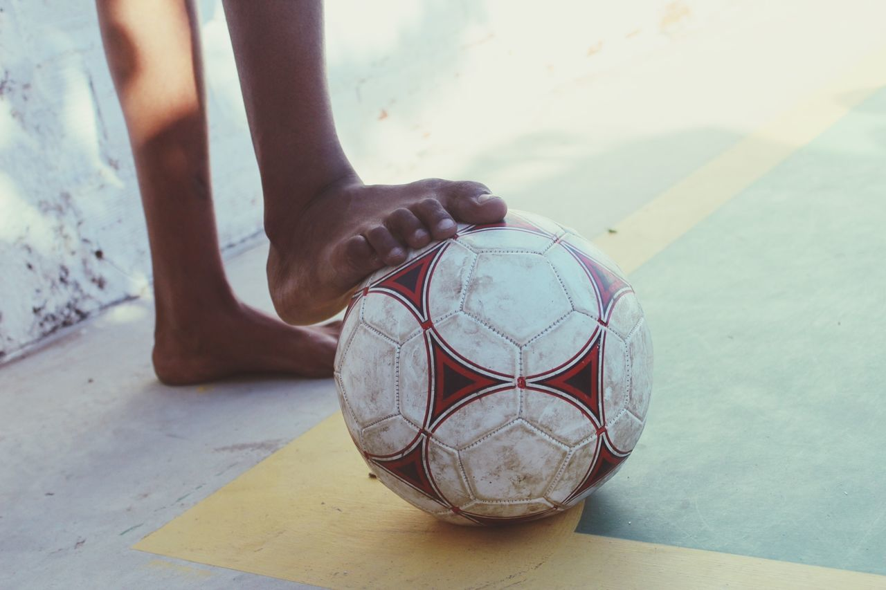Beautiful stock photos of soccer balls, Bare Foot, Boys, Day, Leisure Activity