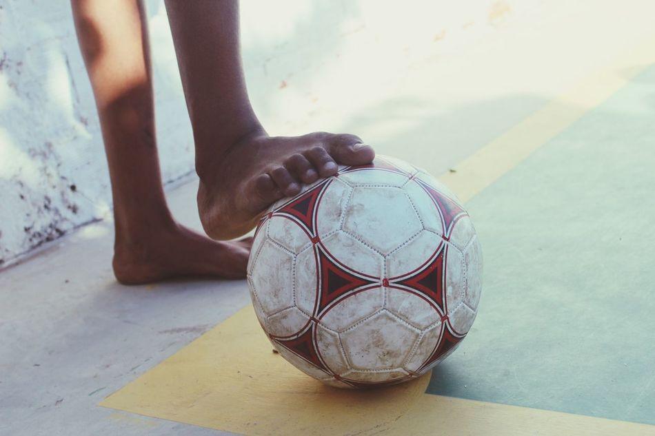 Beautiful stock photos of football, Bare Foot, Boys, Day, Leisure Activity