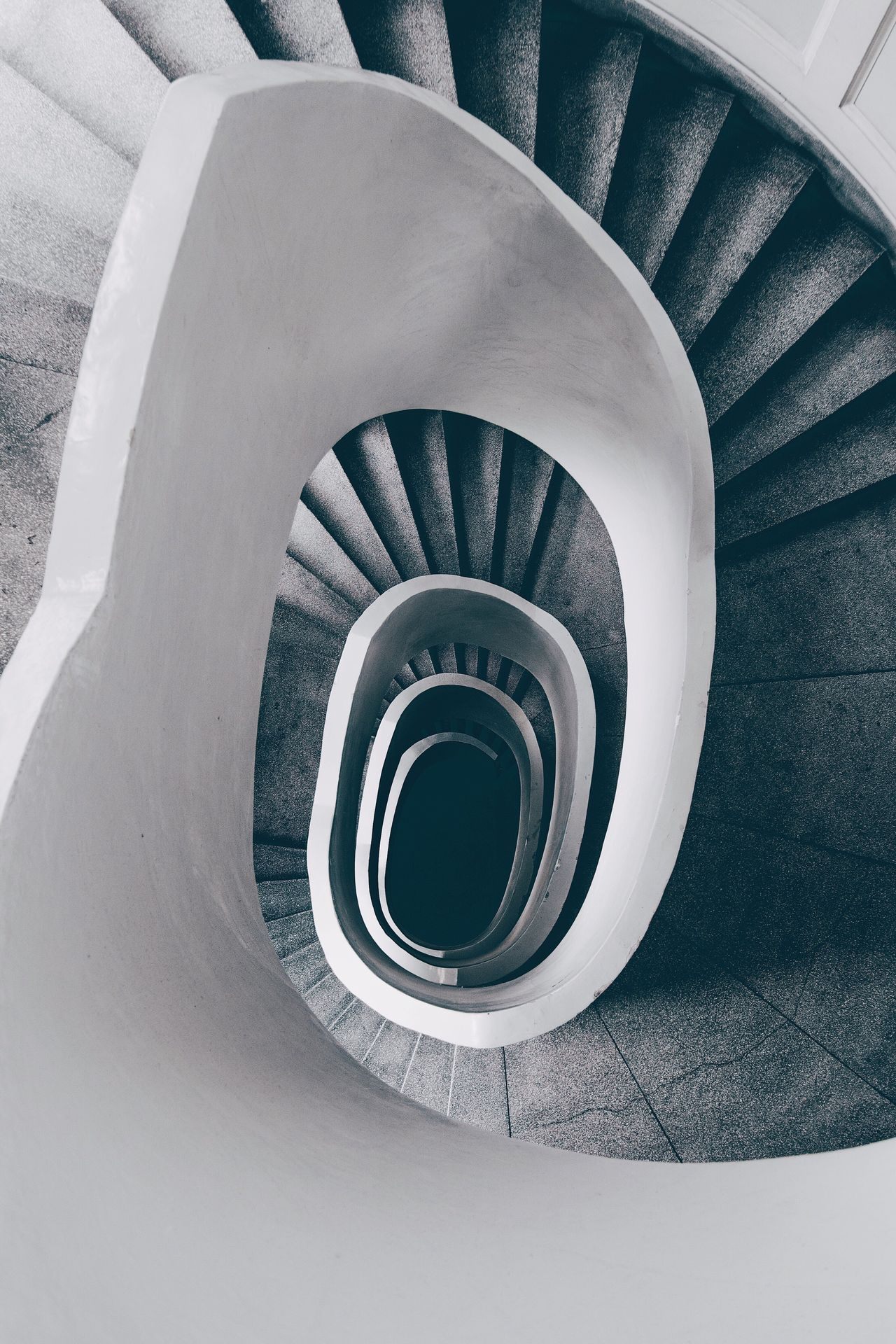 Staircase Spiral Railing Steps And Staircases Steps Built Structure Architecture Spiral Stairs High Angle View Stairs Spiral Staircase Hand Rail No People Day