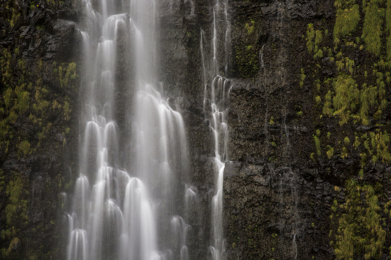 waterfall, motion, long exposure, flowing water, scenics, water, blurred motion, nature, beauty in nature, power in nature, rapid, no people, splashing, rock - object, forest, day, outdoors, low angle view, cliff, travel destinations, spraying, tree
