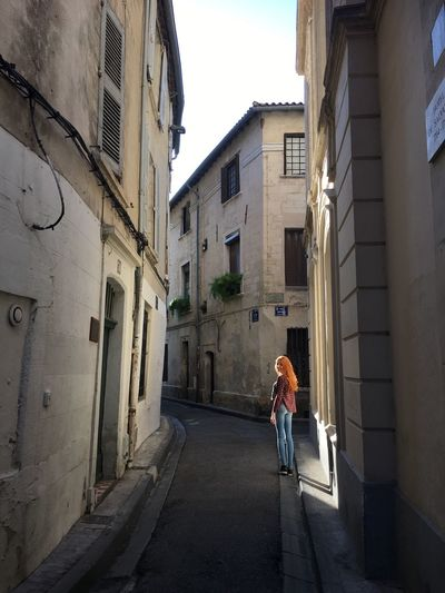 Architecture Building Exterior Built Structure One Person Real People Full Length Day Leisure Activity Women Outdoors Lifestyles Young Women Young Adult City Adult People Avignon Light And Shadow