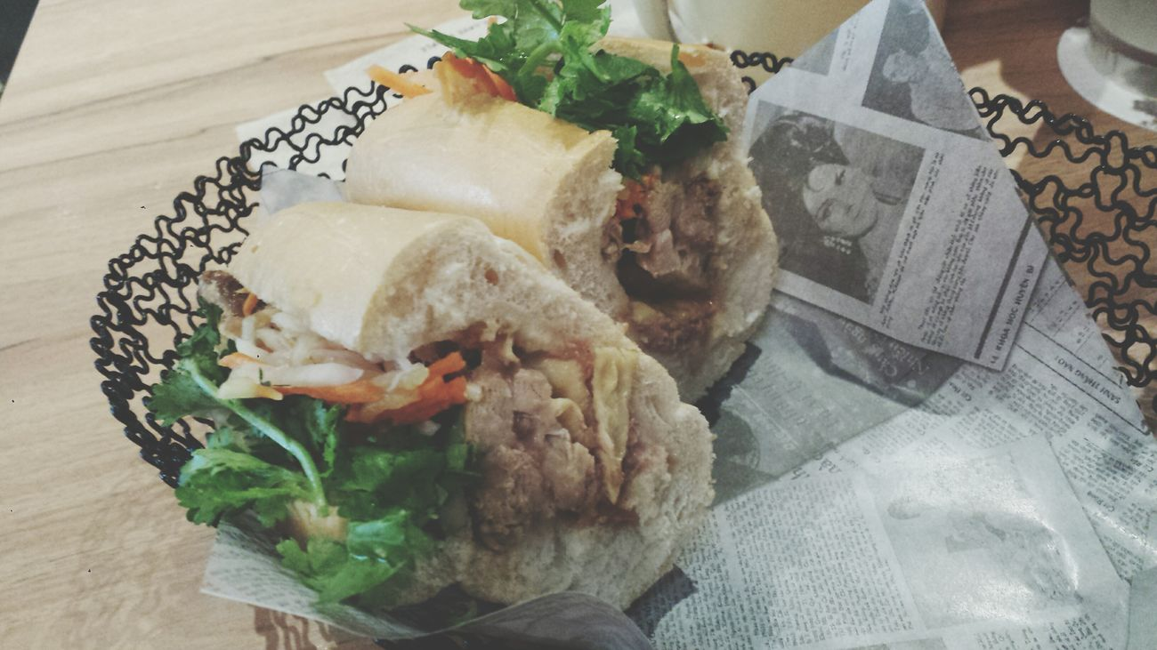 Banh mi with grilled chicken, egg omelet and chicken floss. Vietnam Food TheBreadeats Eating Singapore