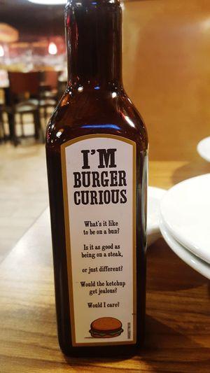 Burger Steak Sauce Restaurant Bottle Food And Drink Dining