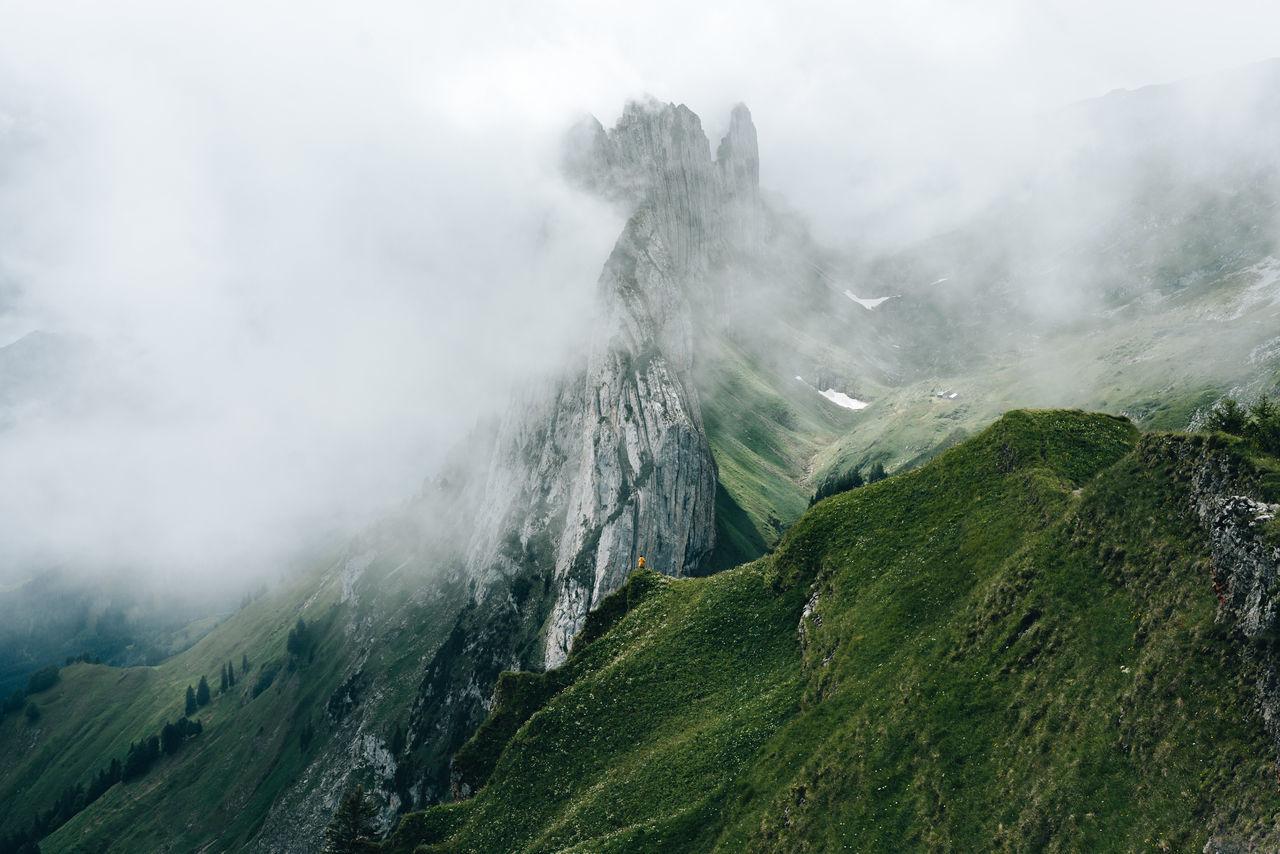 Switzerland Mountain range clouded with fog EyeEm Selects