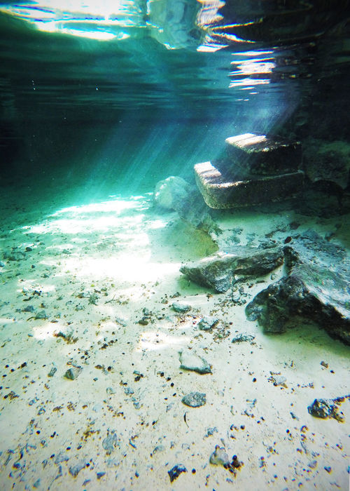 2016 Beautiful Beauty In Nature Cave Cenote Clear Water Grand Cenote Mexico Nature Outdoors Sun Sunlight Underwater Water グランセノーテ セノーテ メキシコ